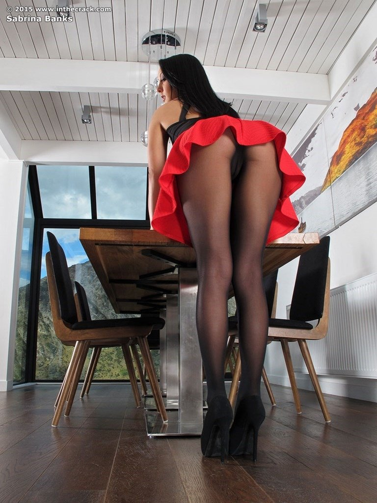 Mas por sheer pantyhose and skirt would have